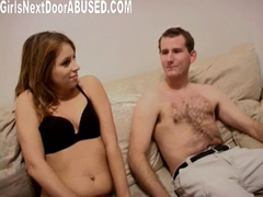 Brown haired babe agrees to fuck at front of the camera