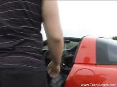 Sexy doll Suzy fucked anally on the car